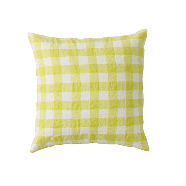 Limoncello Gingham Euro Pillowcase Set