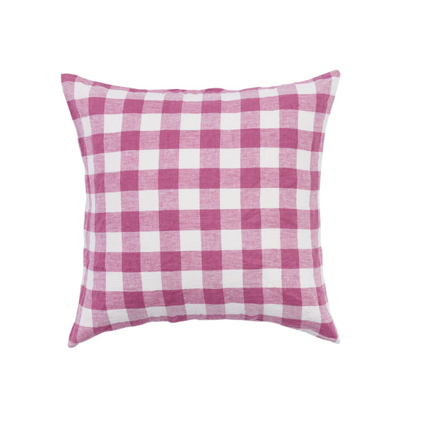 Fuchsia Gingham European Pillowcase Set