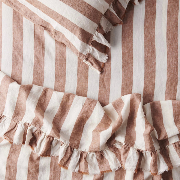 Tobacco Stripe Flat Sheet
