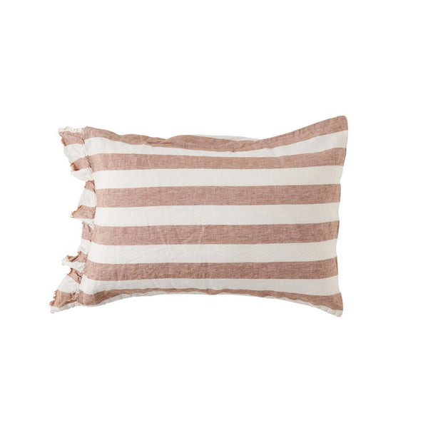 Tobacco Stripe - Standard Pillowcase Set