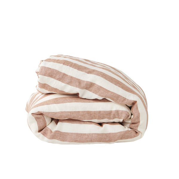 Tobacco Stripe Duvet Cover