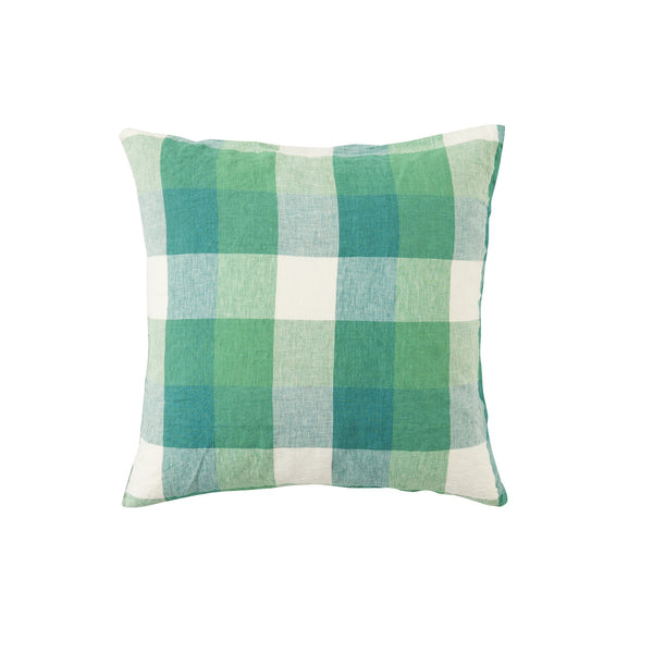 Apple Green Check European Pillowcase Set