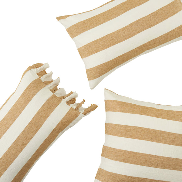 Turmeric Stripe Standard Pillowcase Set