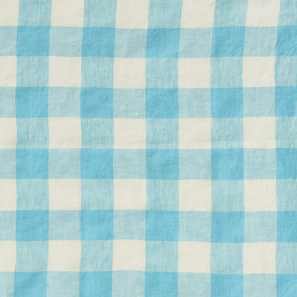 Ocean Blue Gingham/ Turmeric Double Sided Quilt
