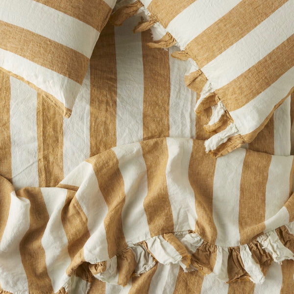Turmeric Stripe Flat Sheet