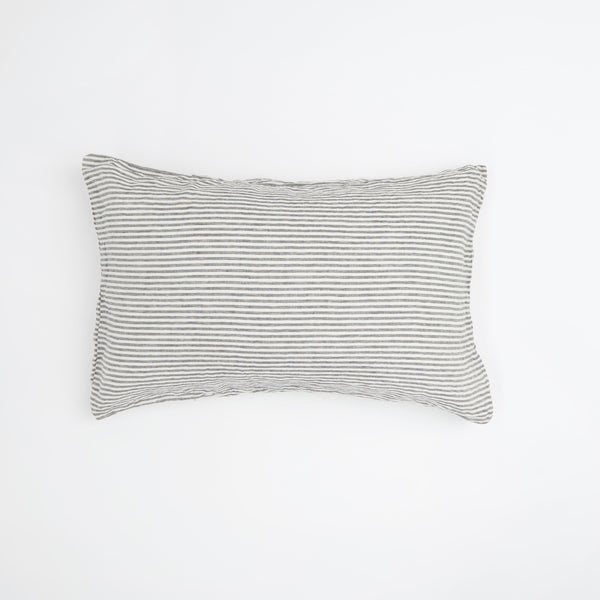 Charcoal Stripe Standard Pillowcase Set
