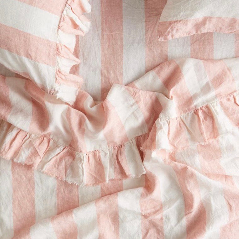 Blush Stripe Flat Sheet