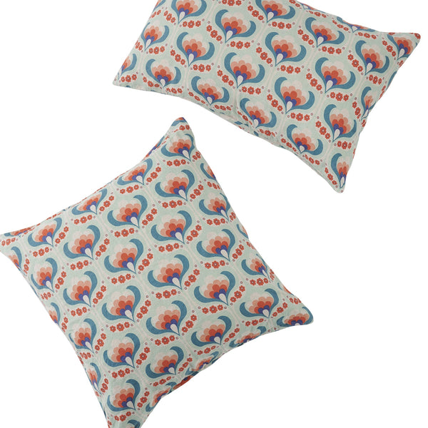 Maude Floral European Pillowcase Set