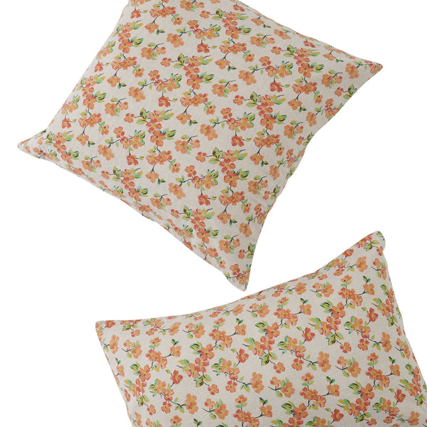 Elma Floral European Pillowcase Set