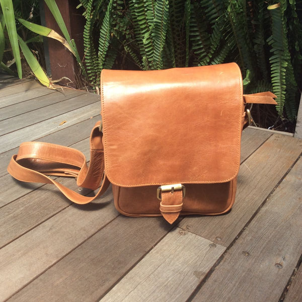 Flap Bag - Distressed Tan