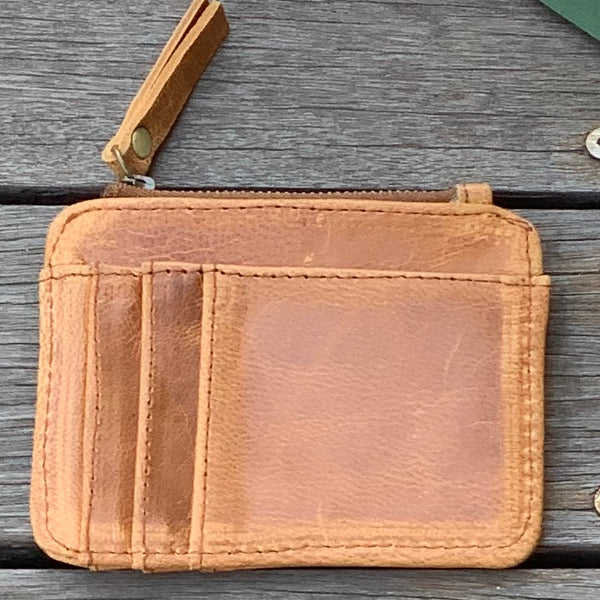 Card & Coin Wallet - Tan