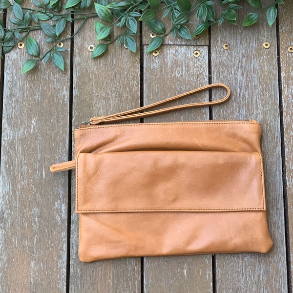 Utility Pouch - Distressed Camel