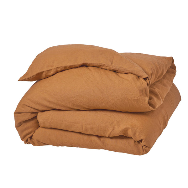 Linen Quilt Cover - Queen Tan