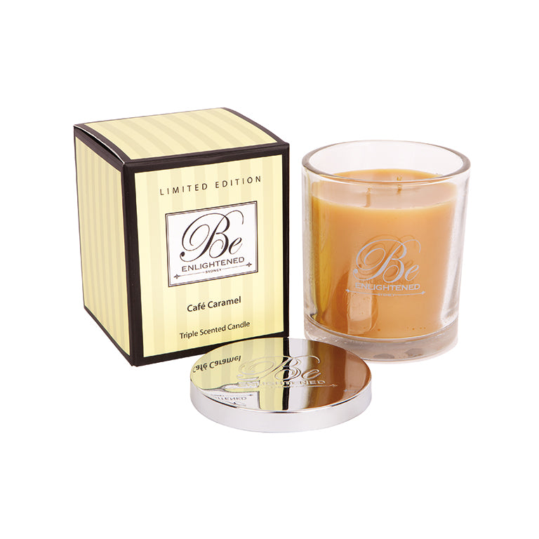 Cafe Caramel Triple Scented Candle 400g