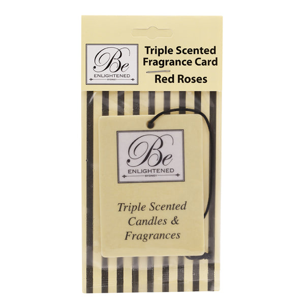 Red Roses Triple Scented Fragrance Card