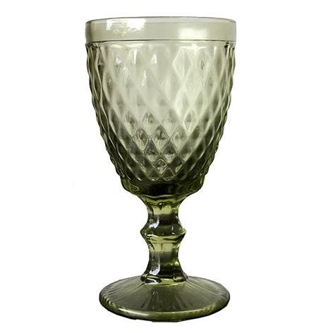 Zahara Wine Glass - Green
