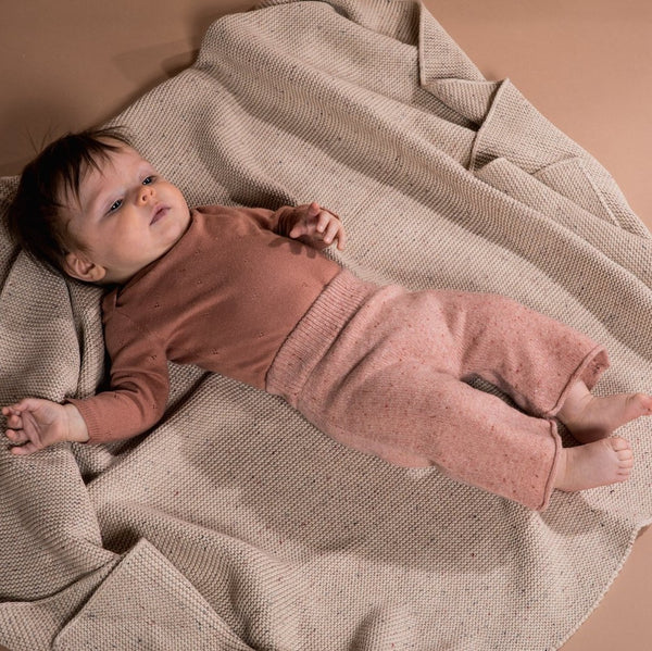 Speckle Baby Blanket - Fawn