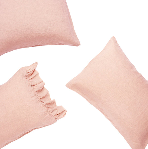 Blush European Pillowcase Set