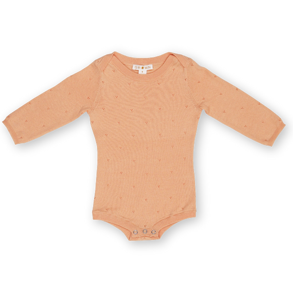 Pointelle Bodysuit - Warm Apricot