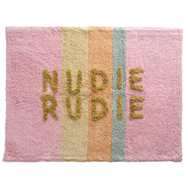 Tula Nudie Bath Mat - Bubblegum Stripe