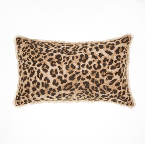 Ezra Cushion - Rectangle Leopard