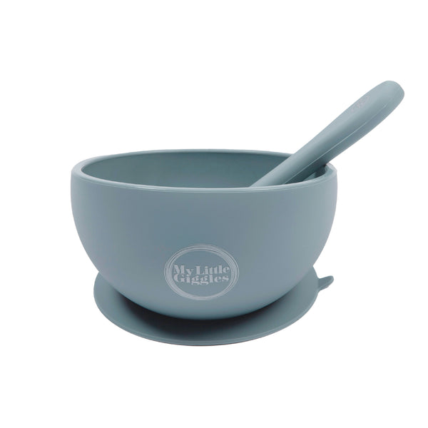 Silicone Bowl & Spoon Set - Clay