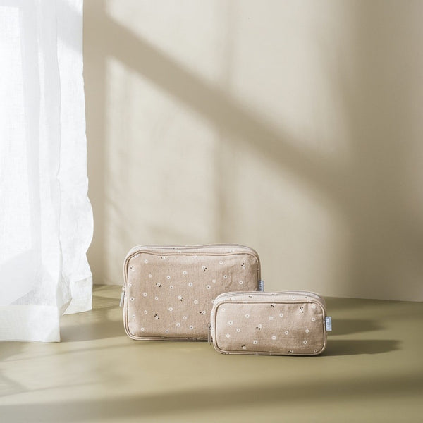 Billie Cosmetic Case - Latte/Multi Small