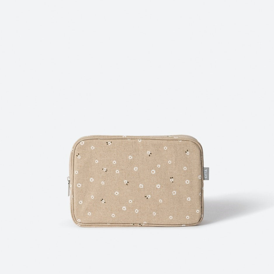 Billie Cosmetic Case - Latte/Multi