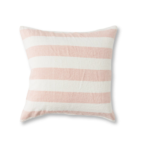 Blush Stripe European Pillowcase Set