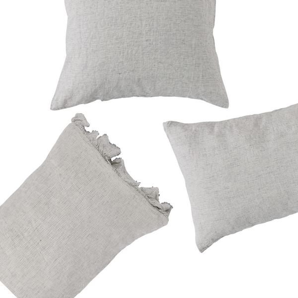 Pinstripe European Pillowcase Set