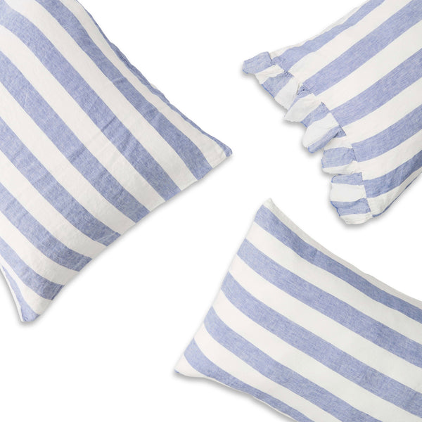 Chambray Stripe Standard Pillowcase Set
