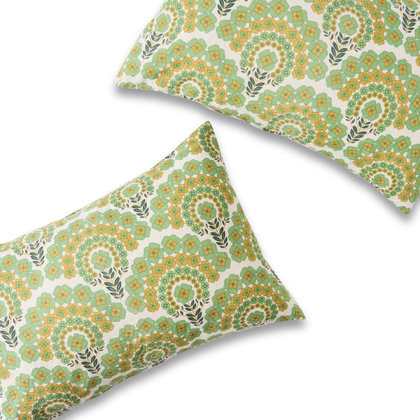 Harriet Floral European Pillowcase Set