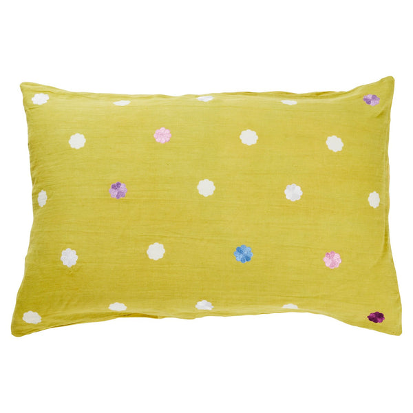 Elian Embroidered Pillowcase - Pear