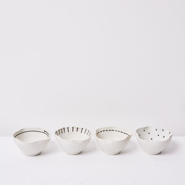 Emiko Condiment Bowls  - Set of 4 (Small)