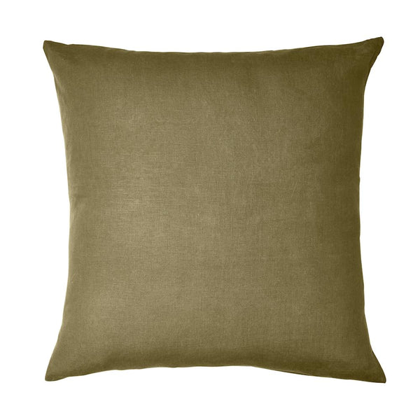 Linen Euro Pillowcase Set  Moss