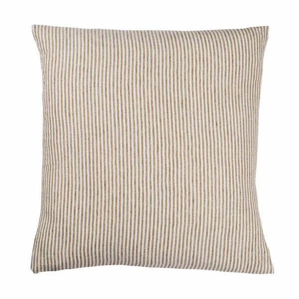 Linen Euro Pillowcase Set - Moss Stripe