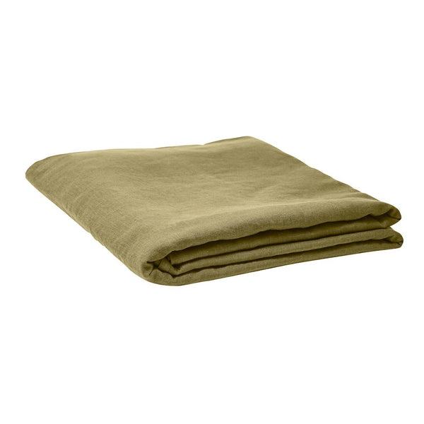 Linen Fitted Sheet  - Moss Queen