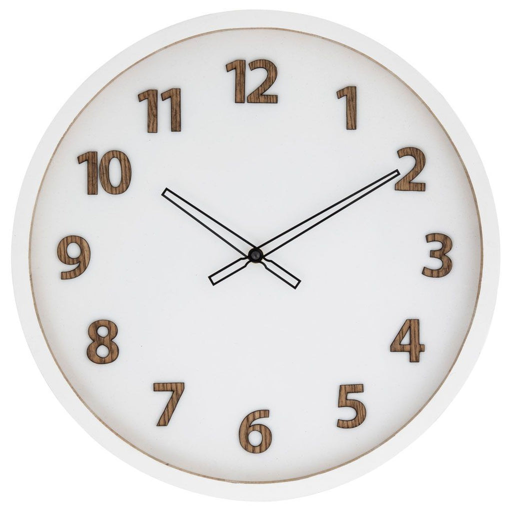Charlie Wall Clock - White