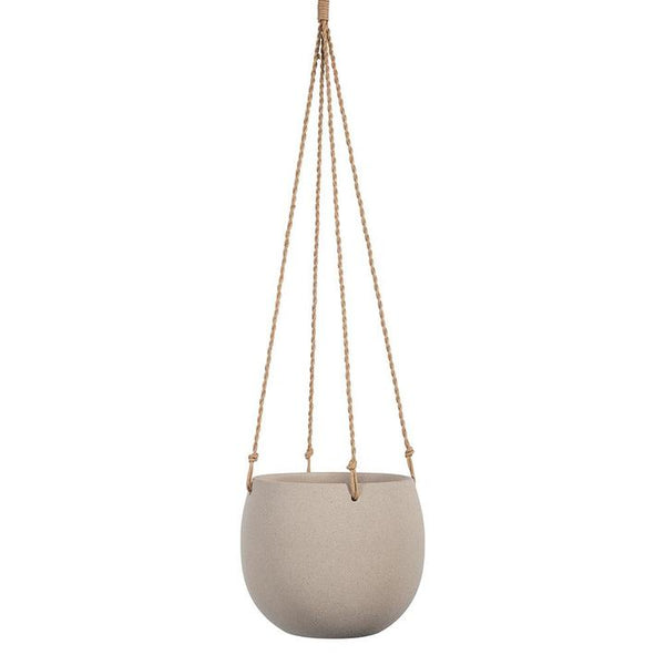 Flo Hanging Pot - Taupe Grey Large