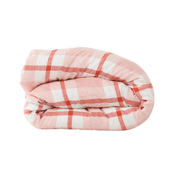 Floss Check Duvet Cover