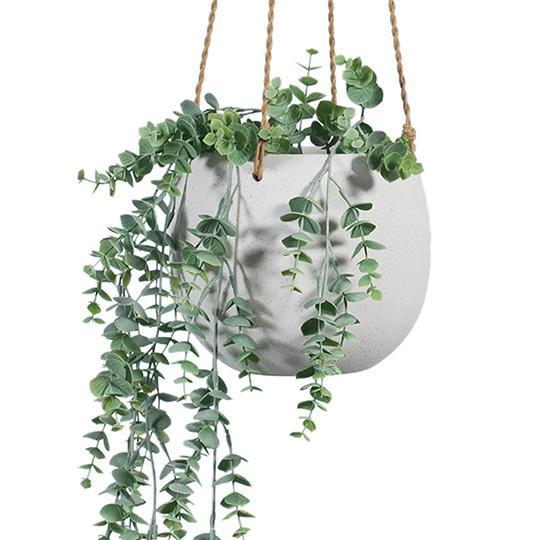 Flo Hanging Pot - White Small
