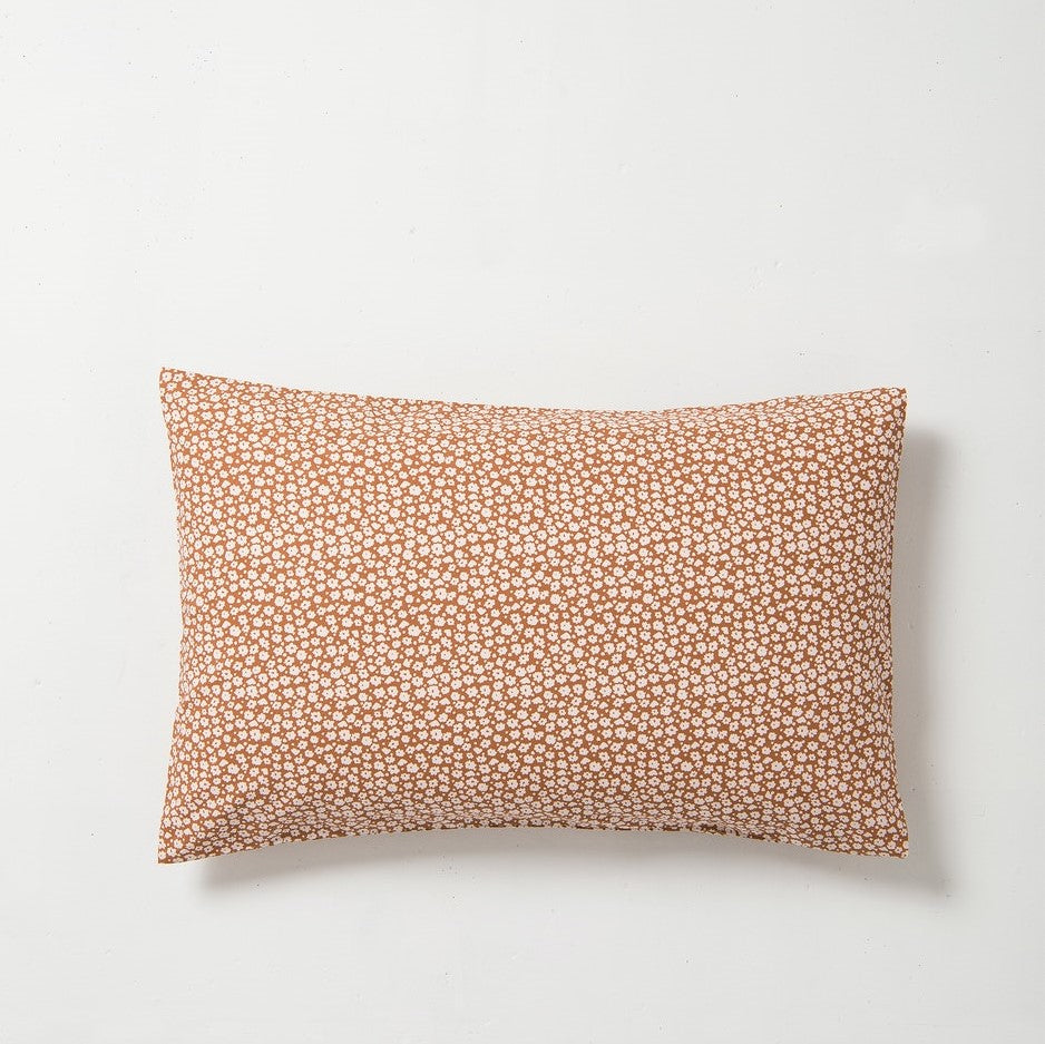Forget Me Not - Pillowcase Pair Toffee/Nougat