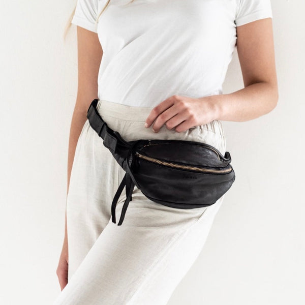 Leather Bumbag - Black