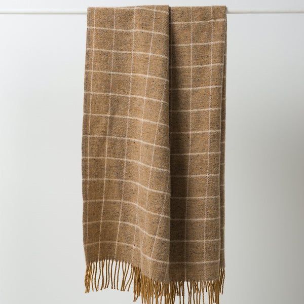 Grid Wool Throw - Jelly/Nude