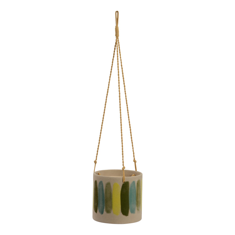 Frankie planter pot hanging green - Small