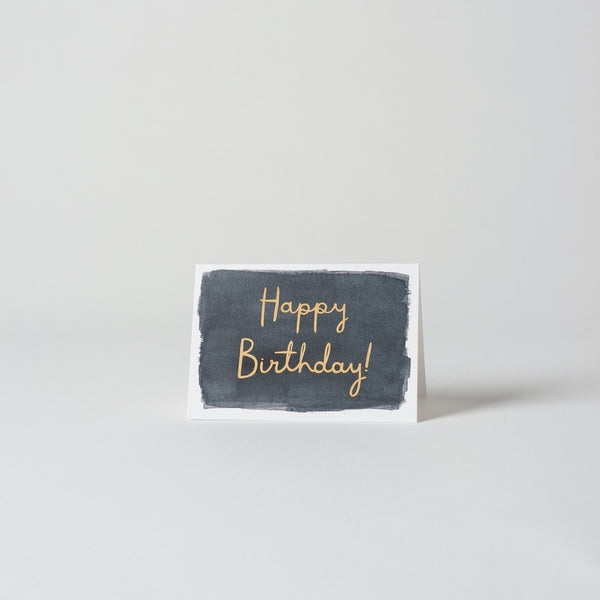 Happy Birthday w/Gold Foil - Greeting Card