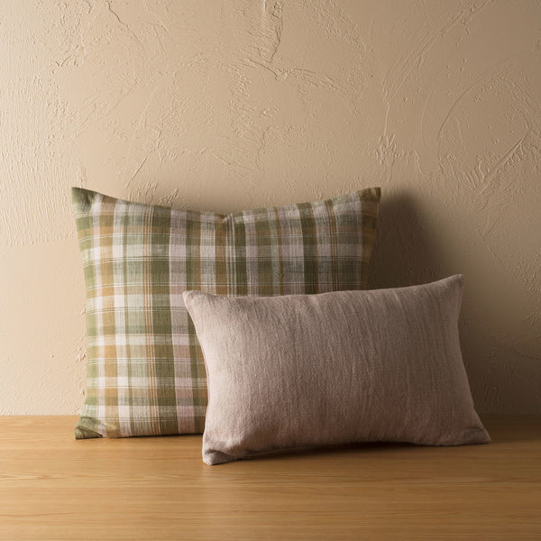 Linen Cotton Cushion - Heather