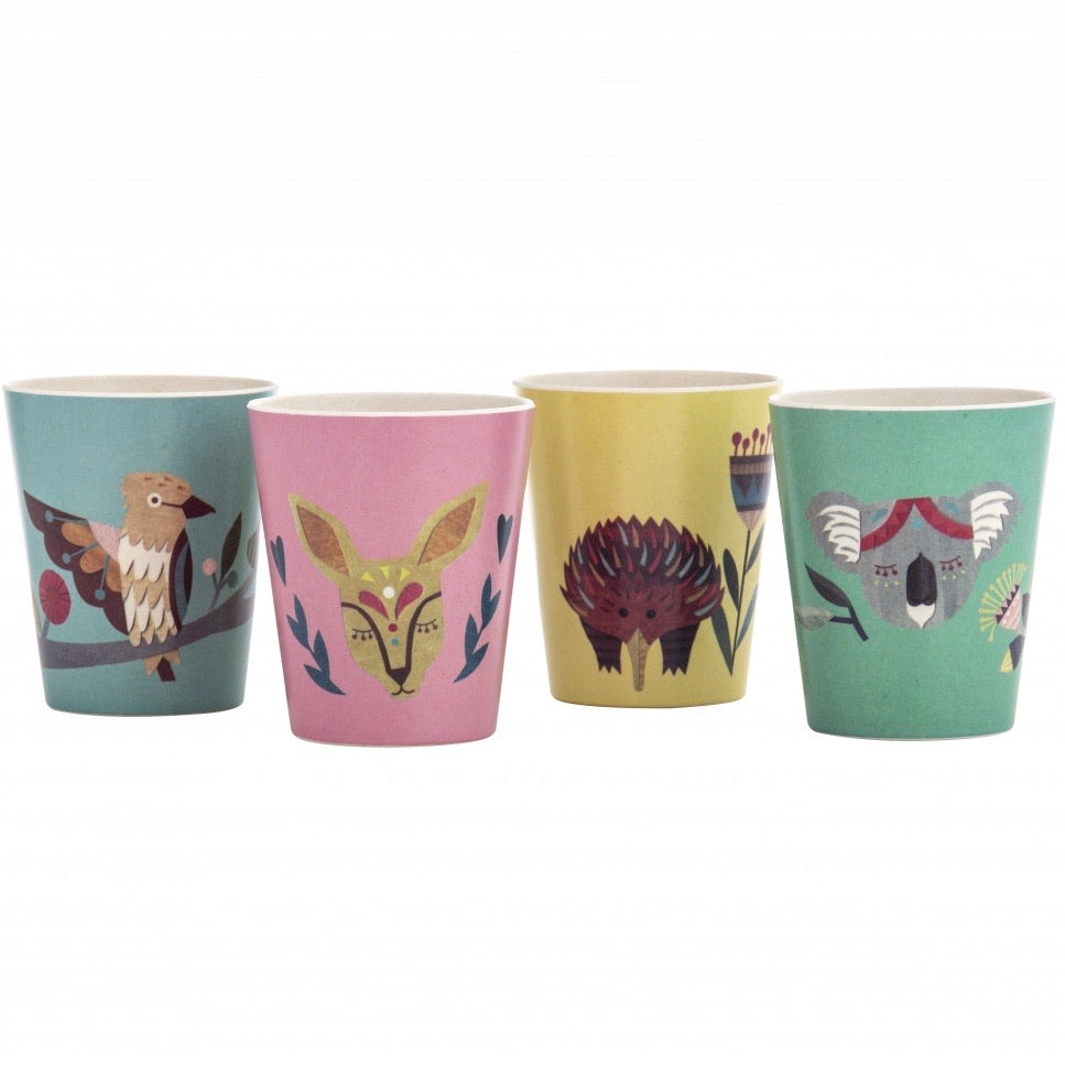 Native Friends Bamboo Cup Set