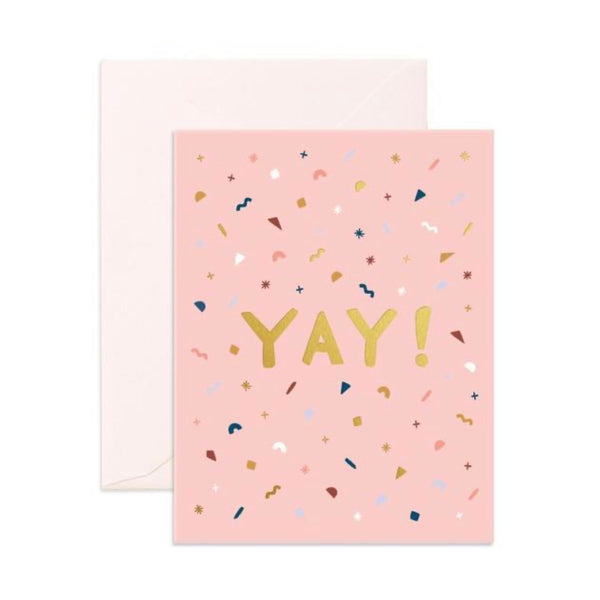 Yay Confetti - Greeting Card