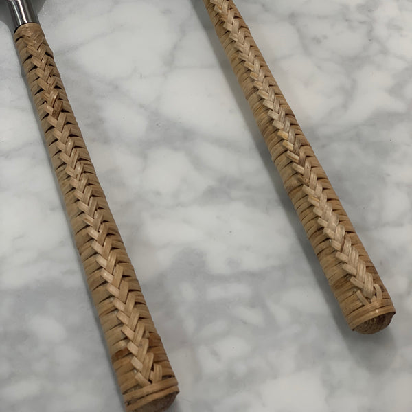Salad Servers - Natural Plait (Set of 2)